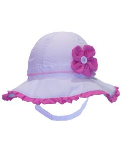 Girls UV 50+ Flower Hat