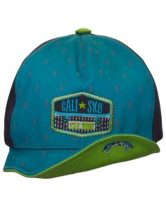 Boys Flexi Visor Ball Hat - Blue Combo