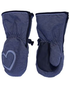 Girls Waterproof Long Cuff Mitten
