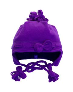 Girls Fleece Bow Hat