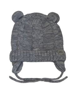 Cotton Knit Bear Hat