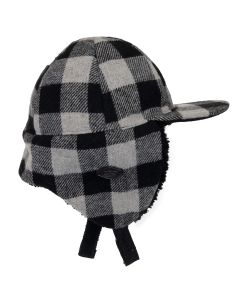 Plaid Wool Blend Hat
