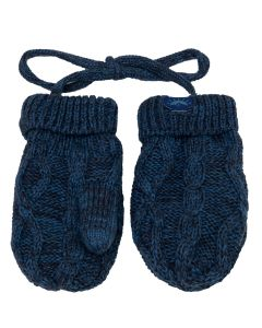 Cotton Cabled Knit Baby Mitten