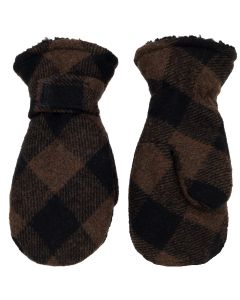 Plaid Wool Blend Mitten